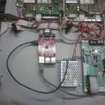 MMDVM-kort ovanpå RPi3 samt DC/DC omvandlare