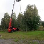 Höglyftare för för att montera antennen