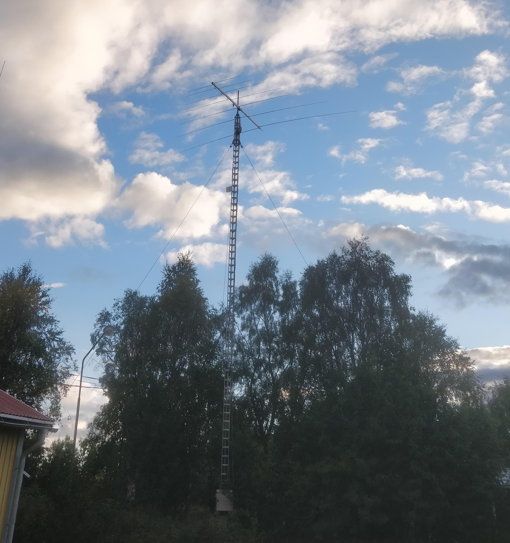 Antennen på plats
